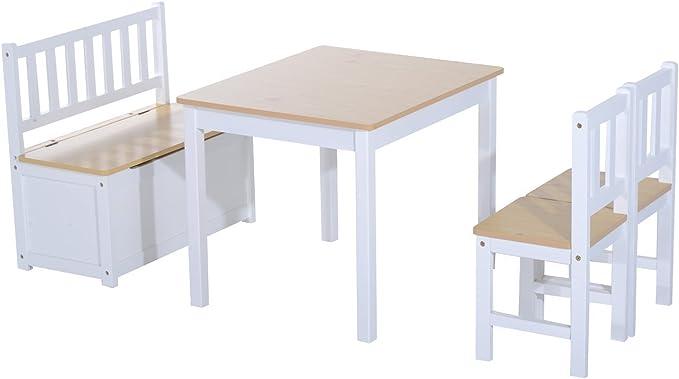 Homcom 312 – 001 4 piezas Lätt 1 x mesa infantil 2 x Silla ...