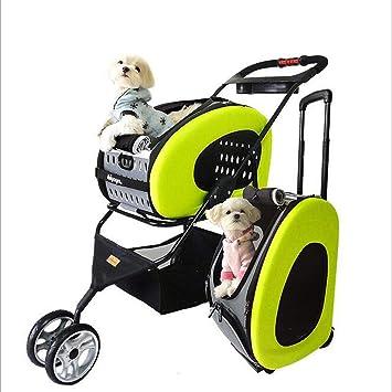 MOIMK Cochecito para Mascotas, Material EVA, Transportador De Perros, Carro, Remolque,