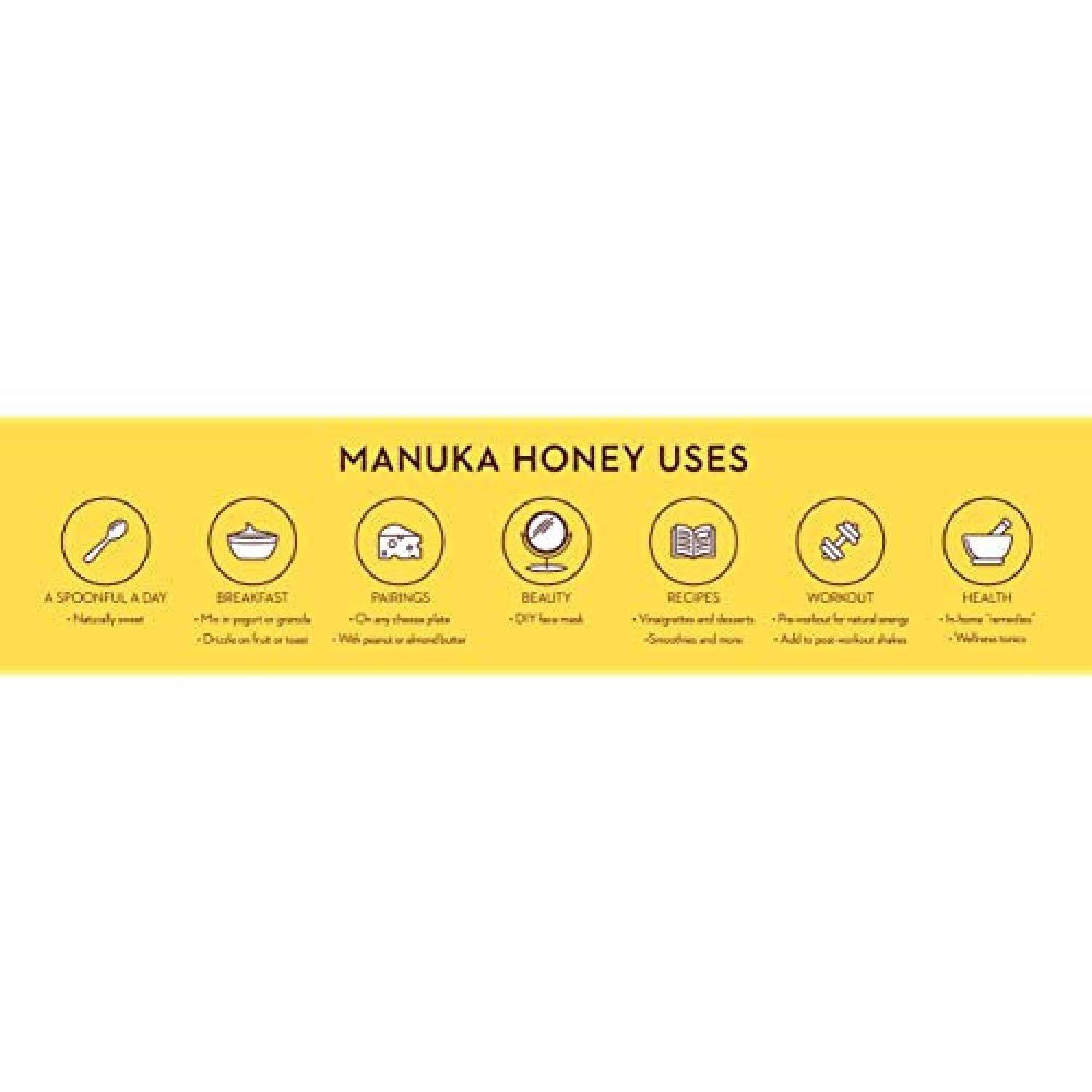 Wedderspoon Raw Premium Manuka Honey KFactor 16, 8.8 Oz, Unpasteurized, Genuine New Zealand Honey, Multi-Functional, Non-GMO Superfood by Wedderspoon (Image #7)