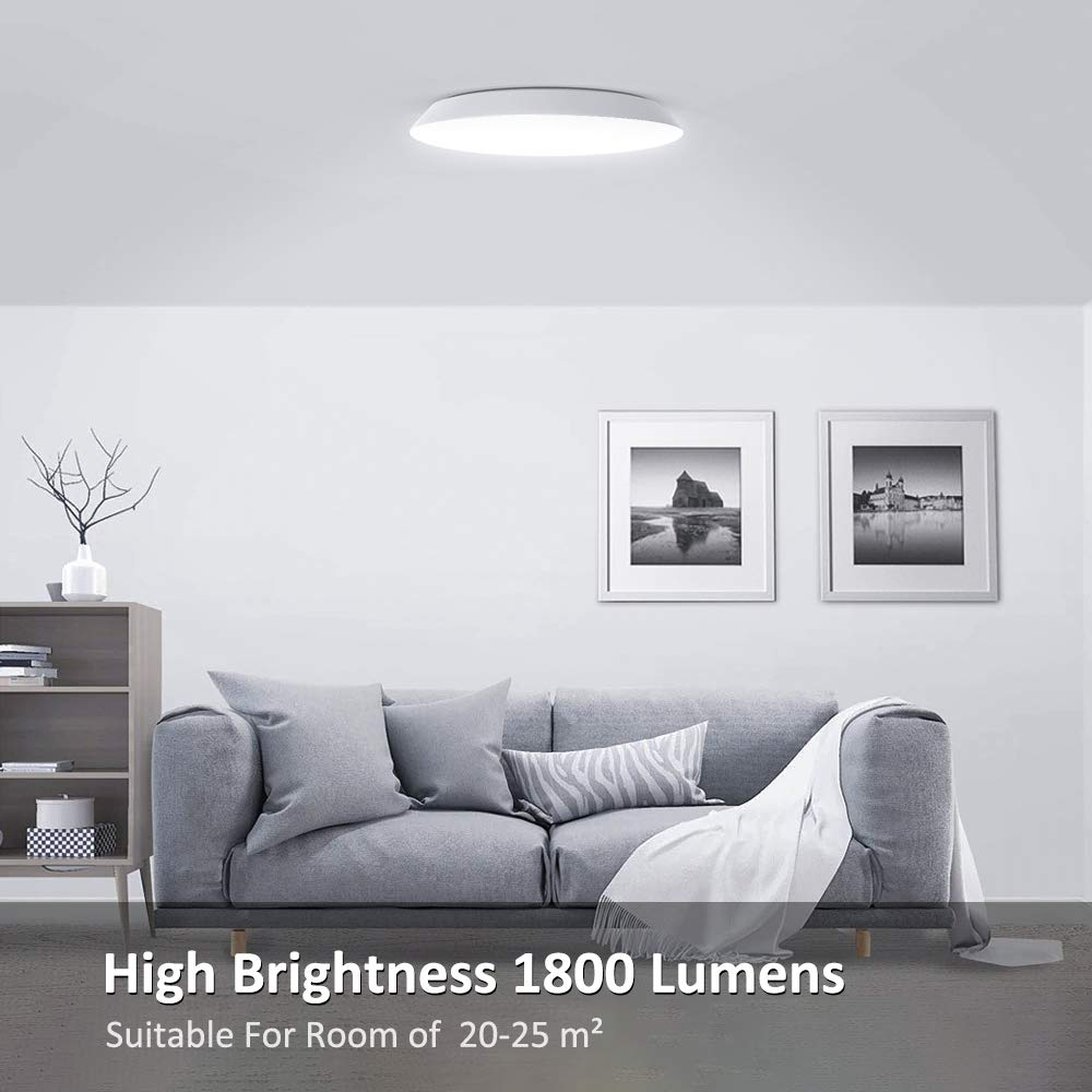 Ultra-Thin Light for Kitchen Bedroom Porch Novostella LED Bathroom Ceiling Light 18W 1800lm 120W Equivalent /Ø 30cm 12in Ceiling Light Fitting IP65 Waterproof 3000K Warm White