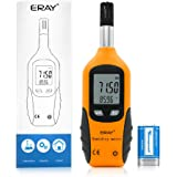ERAY Temperature and Humidity Meter Gauge Monitor Digital Thermometer Handheld Hygrometer Indoor with Dew Point and Wet Bulb Temperature, Battery Included