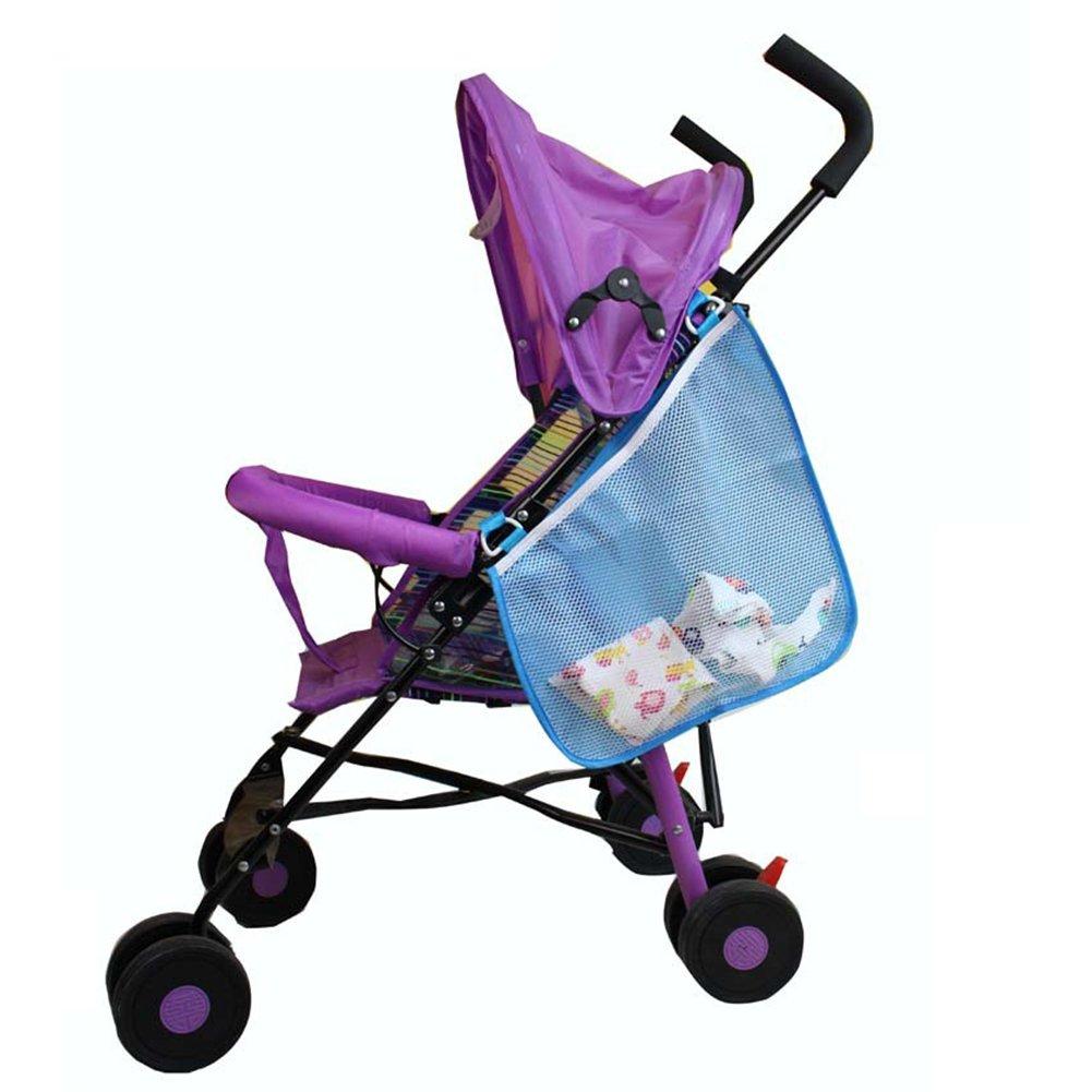 Baby Stroller Side Storage Bag Side Sling Stroller Bag and Organizer Attachable Stroller Net Hanging Bag by Pueri (Blue)