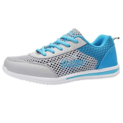 80ef71117c8d5 My Heat Fashion Brand Best Show Women s Athletic Mesh Breathable Sneakers  Running Sports Shoes Blue