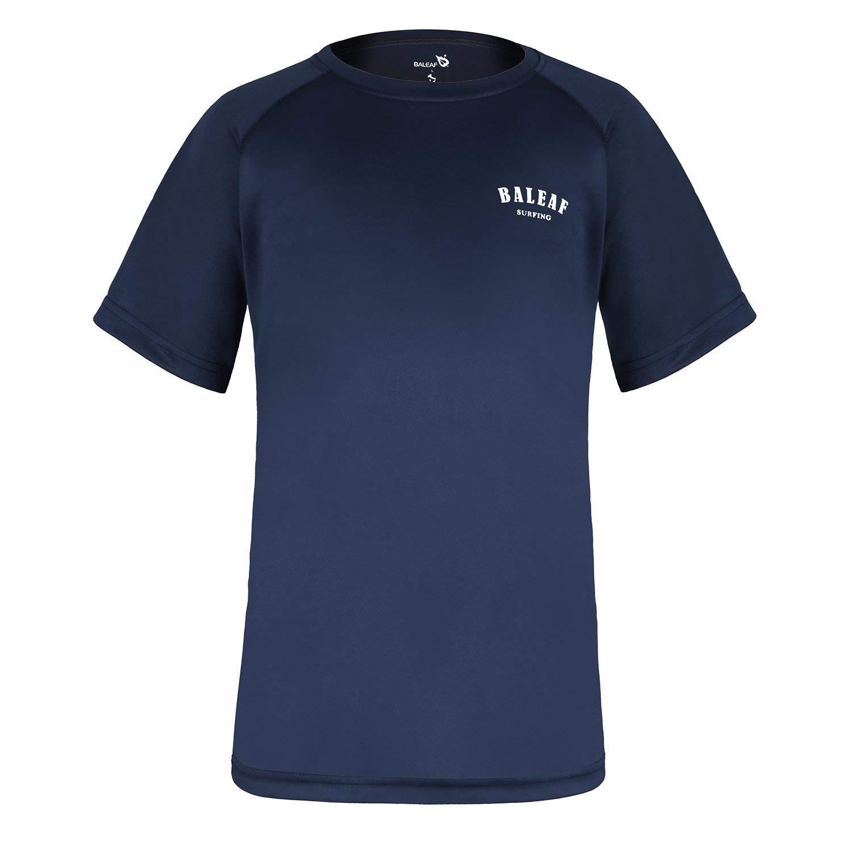 Baleaf Big Boys Short Sleeve Rashguard Quick Dry Swim Shirt UPF 50+