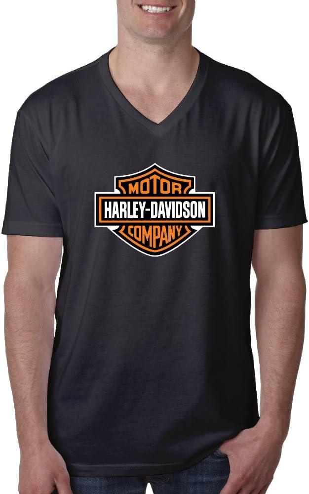 Nicky Hombres de Harley Davidson Logo Manga Corta Cuello en V T Camisas: Amazon.es: Deportes y aire libre