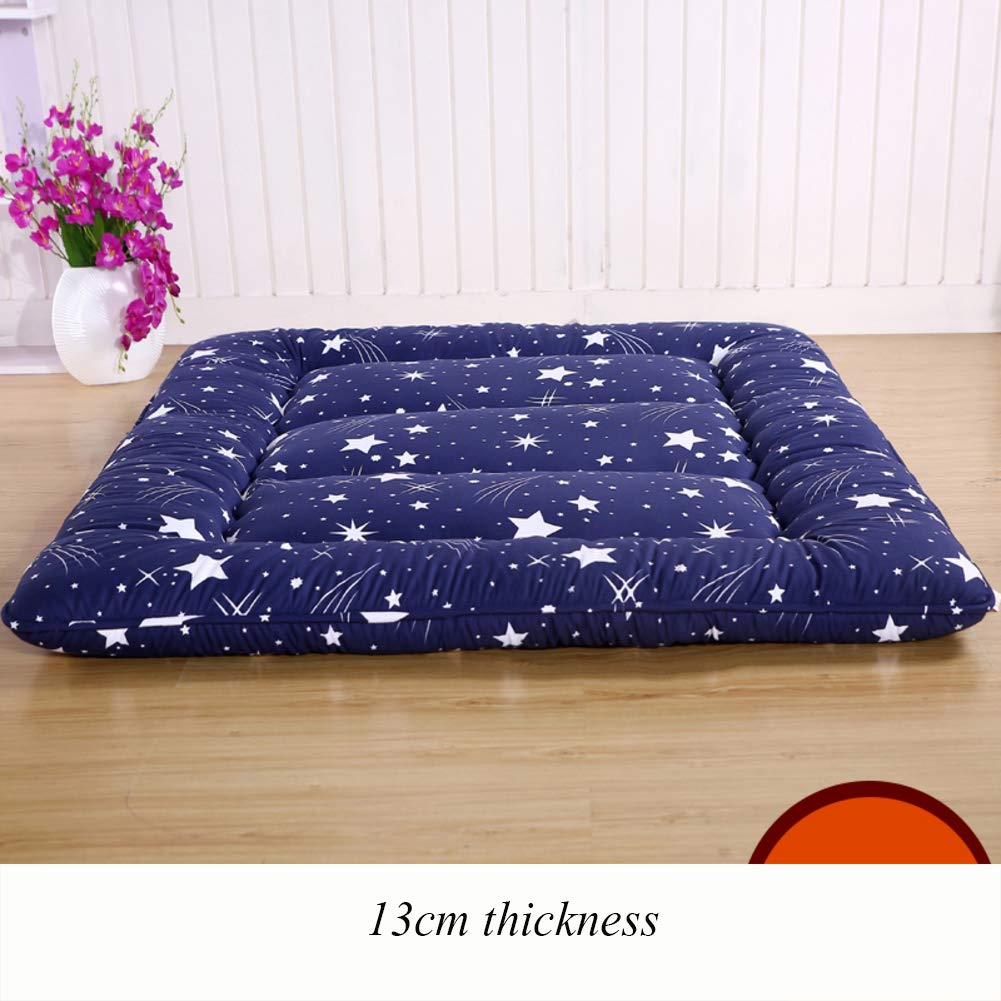 J 120x200cm(47x79inch) Thicken Floor Futon Mattress mat, Ergonomics Foldable Sleeping Tatami Breathable Japanese Bed roll for Student Dorm Living Room-B 90x200cm(35x79inch)