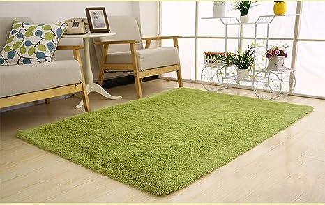 Tappeto Salotto Verde : My tappeto salotto shaggy antiscivolo peluche breve verde 80x120cm
