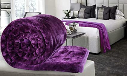 Blankets & Throws Bedding Soft Mink Faux Fur Throw Fleece Warm Large Sofa Bed Blanket Single To King Sizes