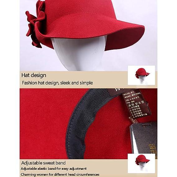 BFAWZ-FF Gorra de cúpula de Flor de Lana Inglesa para Mujer ...