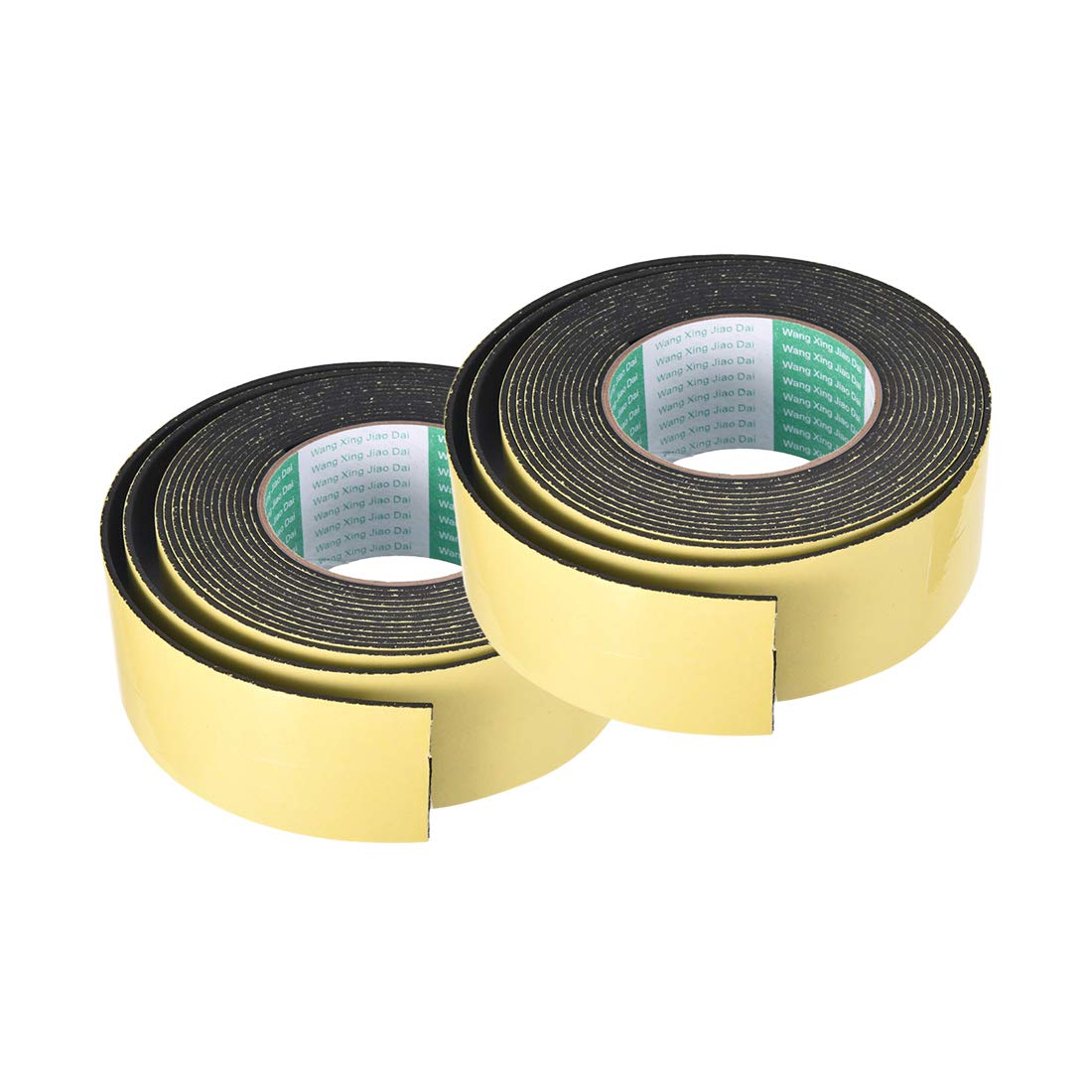 50mm Wide 2mm Thick 16.4 Feet Long Adhesive Weather Strip 2pcs sourcing map Foam Seal Tape