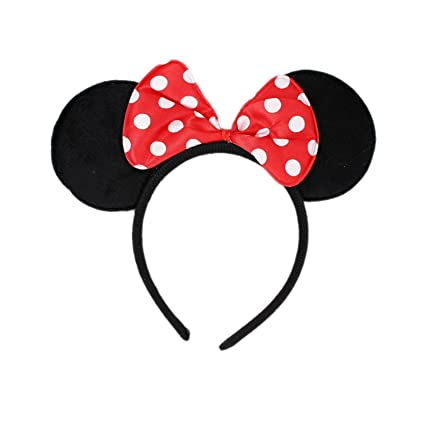 Buy Tako bell Bow head band Minnie Mouse Mickey Mouse Bow Headband  Minnie  Mouse Ears Headband Hairband Costume Accessory(PACK OF 2 RED ) Online at  Low ... e9b10e9ca74