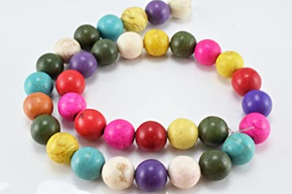 2 Strands Dyed Natural Howlite Heart Bead Colorful Beading Jewelry Crafts Making