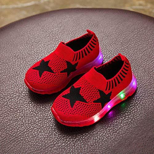 Fossen Rojo Zapatillas Casual 21 Niño Deportes Años 10 Niña Tamaño 1 33 Zapatos qfgnECw6C