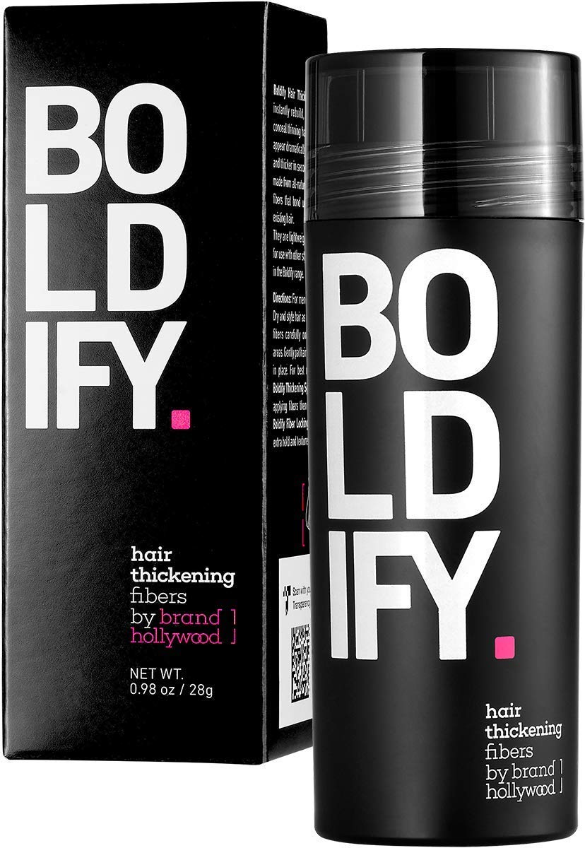 BOLDIFY Hair Fibers for Thinning Hair (DARK BROWN) 100% Undetectable & Natural - Giant 28g Bottle - Completely Conceals Hair Loss in 15 Seconds - Hair Thickener & Topper for Fine Hair for Women & Men: Beauty