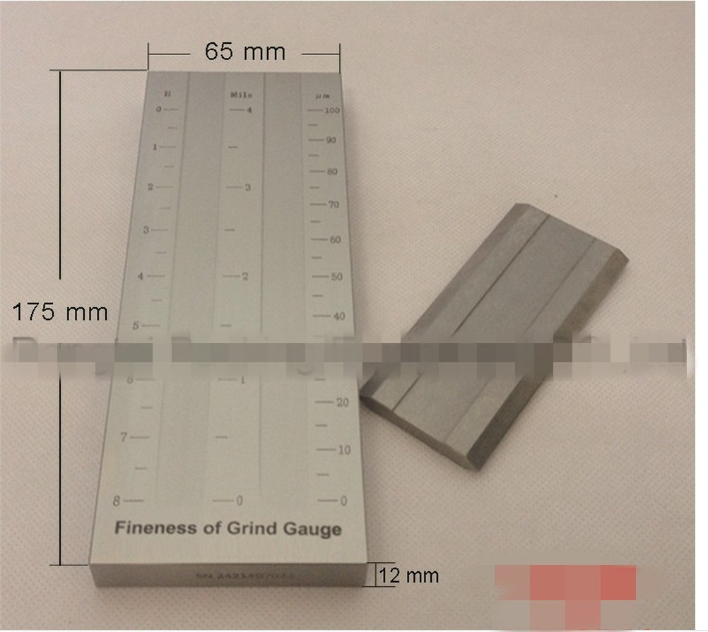 Stainless Steel Double Groove Fineness of Grind Gauge Fineness Meter (0~25,0~50,0~100um)