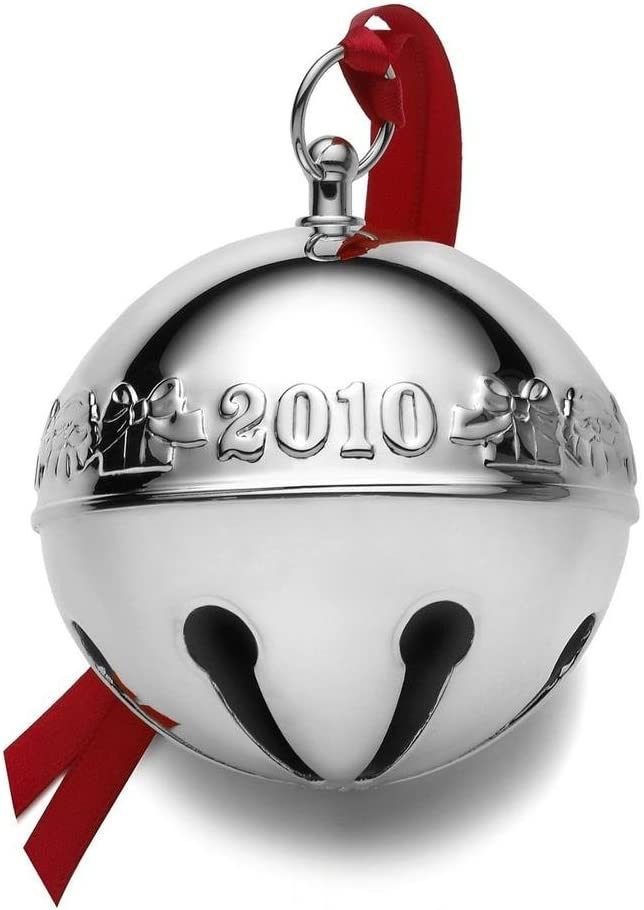 Wallace Silversmith 2021 Annual Christmas Ornament Amazon Com Wallace Christmas Ornament 2010 Silver Plated Sleigh Bell Home Kitchen
