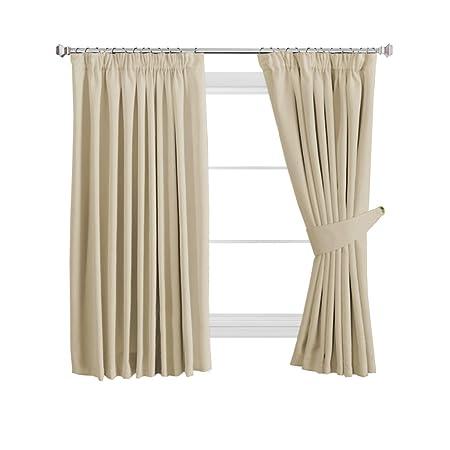 HVersailtex Room Darking Pencil Pleat Curtain Nursery Dcor Thermal Insulated Super Soft Solid Interwoven