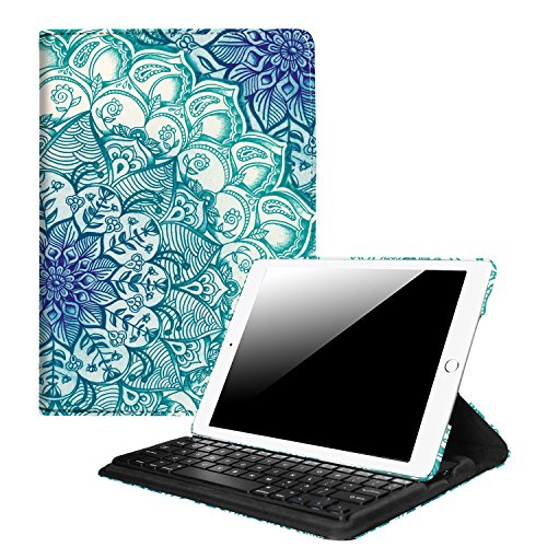 Fintie iPad 9.7 inch 2018 2017 / iPad Air 2 / iPad Air Keyboard Case - Multiple Angles Stand Cover Built-in Wireless Bluetooth Keyboard for iPad 9.7 / iPad Air 2 / iPad Air, Emerald Illusions