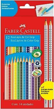 Lápis de Cor EcoLápis Colour Grip 12 Cores + 2 Ecolápis Grafite , Faber-Castell