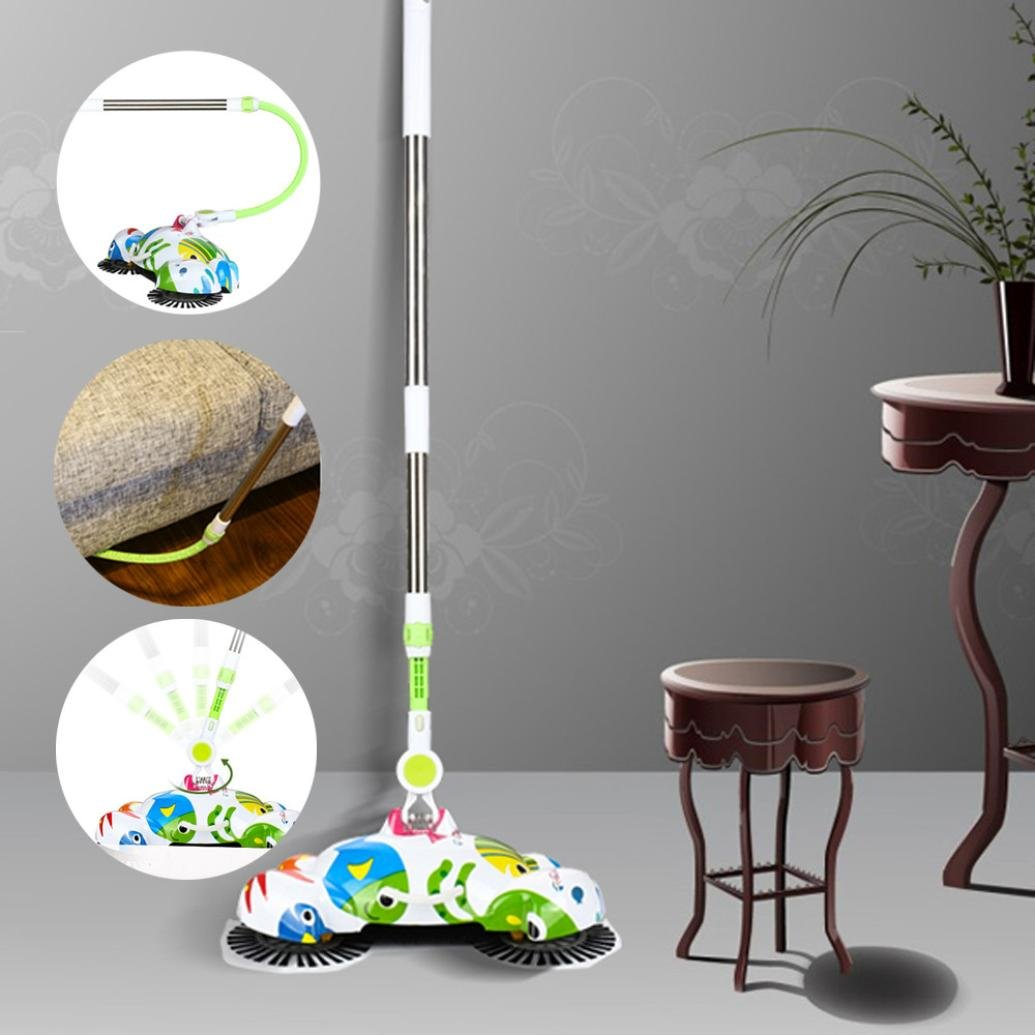 Botrong New Arrival 360 Rotary Home Use Magic Manual Telescopic Floor Dust Sweeper