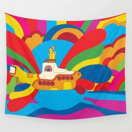 Amazon Ameiu Design Yellow Submarine Wall Tapestry Hanging