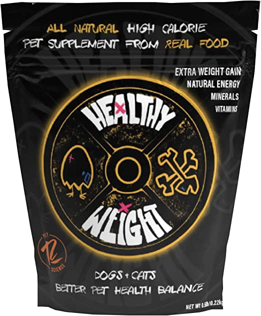 Rogue Pet Science | Healthy Weight - Dog & Cat Natural Weight Gaining Supplement | Includes Vitamins, Minerals, & Natural Energy from Whole Eggs, Sprouted Barley, Sweet Potatoes, & Carrot Fiber