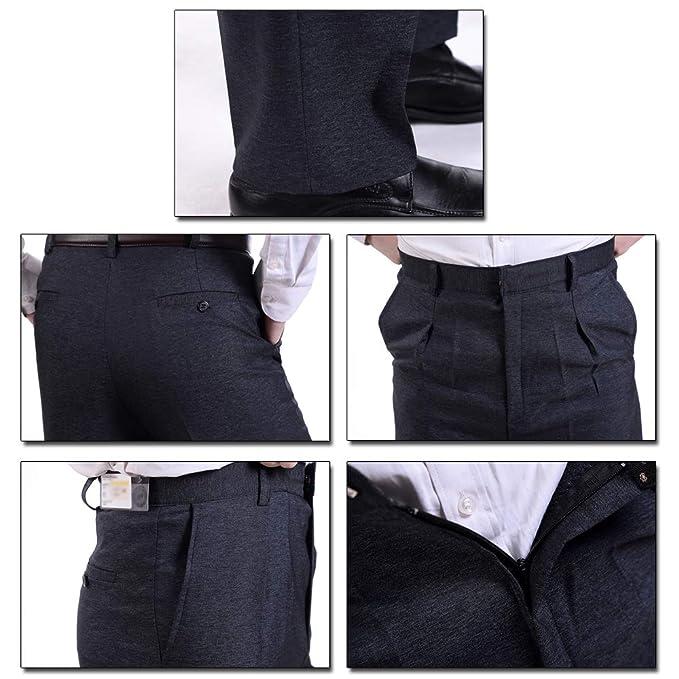 bdcc3134d74 KINDOYO Mens Suit Pants - New Casual Large Size Pants - 33 Style 02 at  Amazon Men s Clothing store