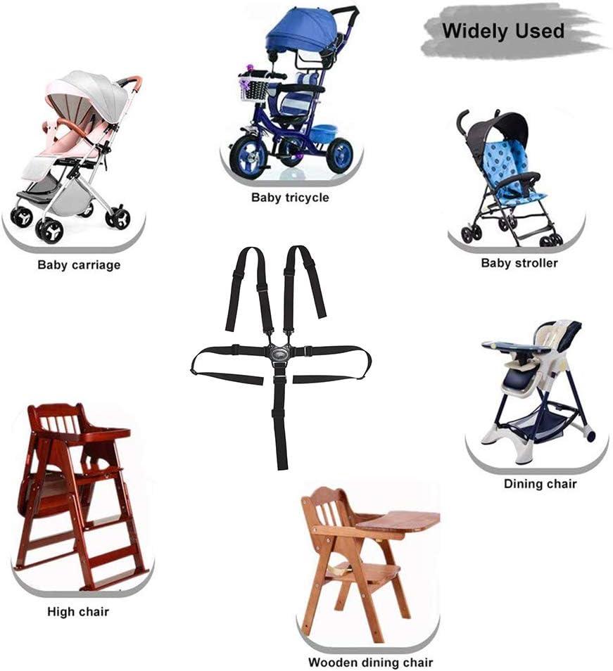 Universal Kinderschutz Gurt Baby Sicherheitsgurt F/ür Kinderwagen-Hochstuhl Kinderwagen Buggy Grau Kenyaw 5Punkt Gurt Kinderwagen