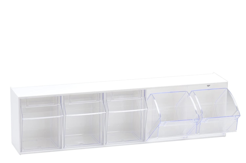 5 h/ünersdorff Klarsichtbeh/älter // Aufbewahrungsbox // Riegel f/ür ein optimales MultiStore-Lagersystem im Baukastenprinzip aus hochschlagfestem Kunststoff Nr PS