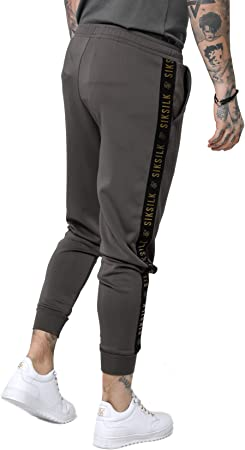 Sik Silk Pantalón Cuffed Cropped Taped Joggers Hombre