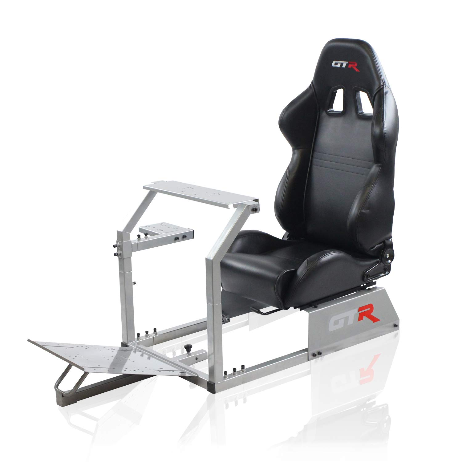 GTR Simulator GTA Model with Real Racing Seat, Driving Simulator Cockpit  Gaming Chair with Gear Shifter Mount