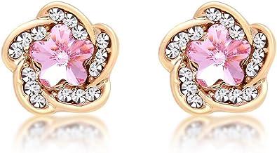 Flower Girl Wedding Jewelry Baby Pink Druzy Stud Flower Girl Earrings Pink Stud Earrings for Flower Girl Gift Flower Girl Earrings