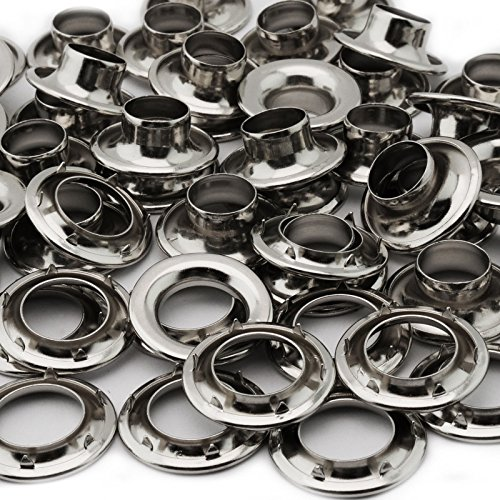 C.S. Osborne Nickel Plated Grommets & Spur Washers #N2-6 (Size 6) 144 Sets by C.S. Osborne