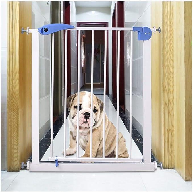 ZEMIN Barrera De Seguridad Escalera Puerta For Niños Perros Rebote Automático Cocina Aislamiento Proteccion Inodoro Puerta, Multi-tamaño (Color : H 76CM, Size : W 75-82CM): Amazon.es: Hogar