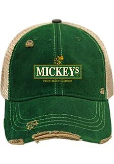 ef6d4b3b42d28 Mickey s Malt Liquor Brewing Company Retro Brand Vintage Mesh Beer Hat Cap