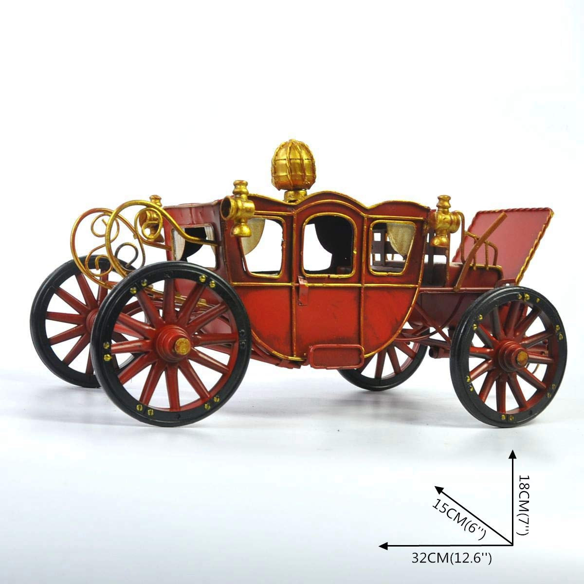 Car Models Crafts Decoration Toy, Tinplate Car Photography Props, Props, Props, Simple Home Perfect Retro Adornment, The Best Gift for Boy (Palace Carriage) 0427f8