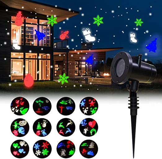 COOSA Luces Proyector Navidad LED,12 Diapositivas Exclusivamente ...