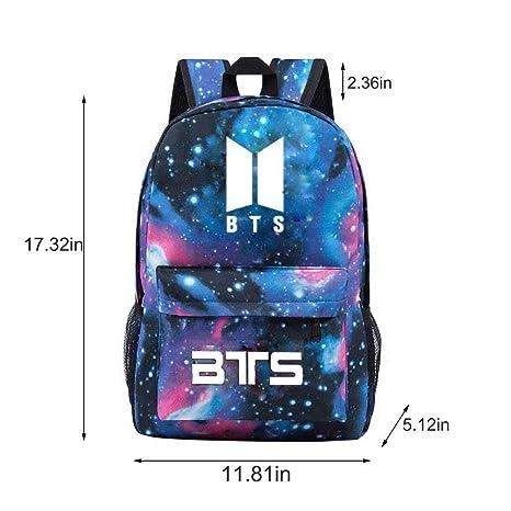 a4bf63fefccb Amazon.com : Rainlemon Kpop BTS Bangtan Boys Galaxy Backpack ...