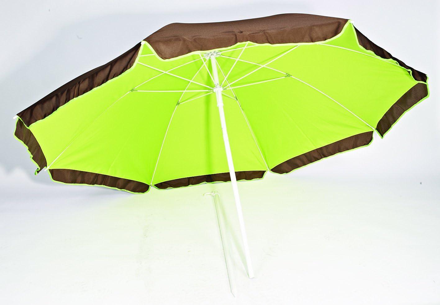 200 Cm Parasol Double Protection Anti-uv Sans Marque