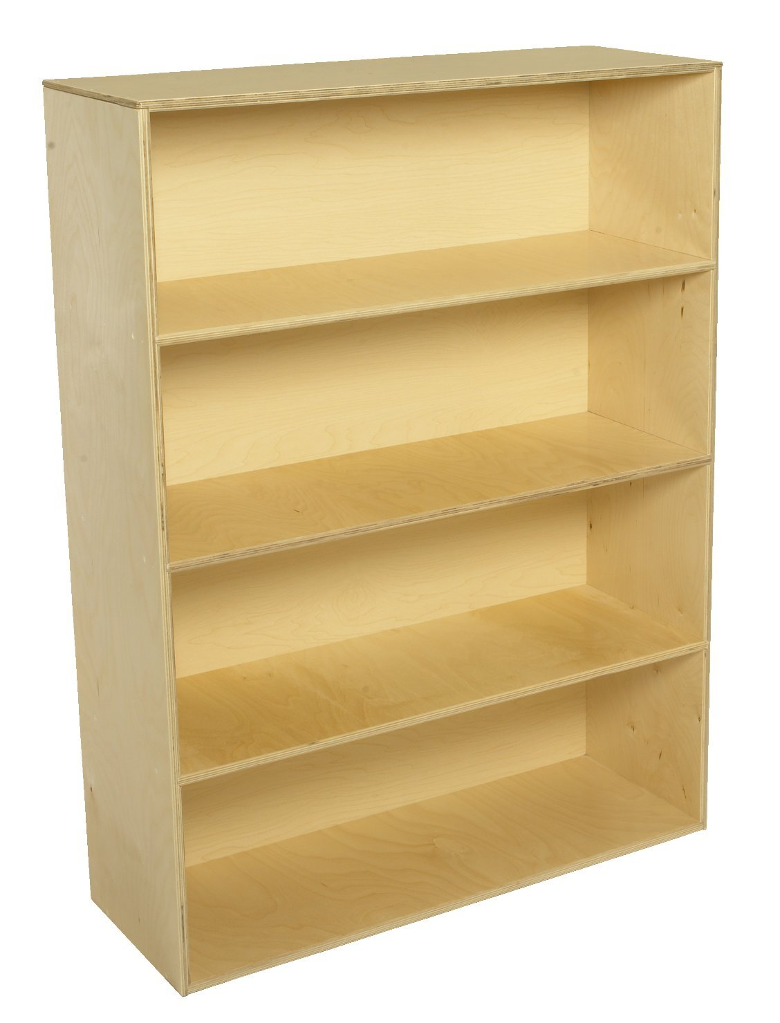 Childcraft 1464419 4-Shelf Storage Unit, 35-3/4 x 13 x 48 Inches Height,13 Inches Width,35.75 Inches Length,Natural Wood