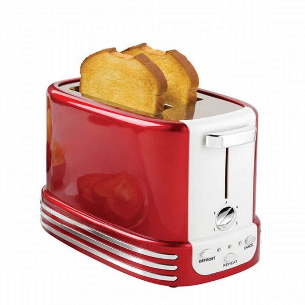 CN Dos tostadora Horno tostadora Inicio automático Controlador de Suelo máquina de Desayuno,Rojo,1: Amazon.es: Deportes y aire libre