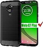 Moto G7 Play Case, HNHYGETE Soft Slim Shockproof Anti-Fingerprint Full Protective Phone Cases for Motorola Moto G7 Play…