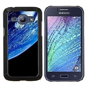 Caucho caso de Shell duro de la cubierta de accesorios de protección BY RAYDREAMMM - Samsung Galaxy J1 J100 - Azul Planeta Tierra Primer Ver espacio Ambiente