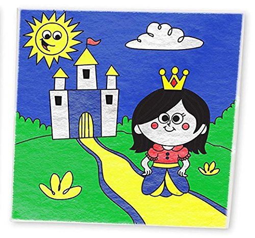 "Paint By Number Kit For Kids, Princess Pack, Paint With Numbers, Paint By Numbers For Kids, (2 pack) 10"" X 10"" Wood Framed Canvas With Pre Printed Designs by Little Painters"