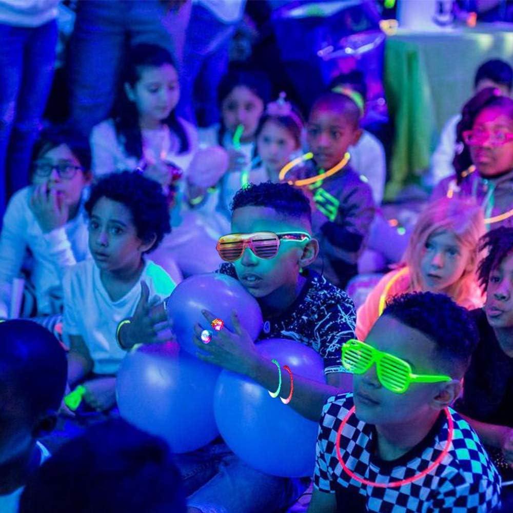 18x Blinkt Haar Zopf Light Up Glow Party Favors Barrettes Licht Up Spielzeug BL