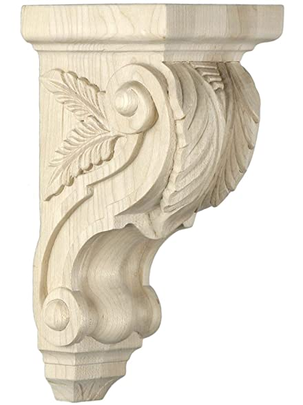 Exceptional Roman Style Acanthus Royal Wood Corbel In Cherry   15 3/8u0026quot; H X 5 Gallery