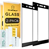 [2-Pack]-Mr Shield for Sony Xperia XA1 Ultra [Tempered Glass] [FullCover] [Black] Screen Protector with Lifetime Replacement Warranty