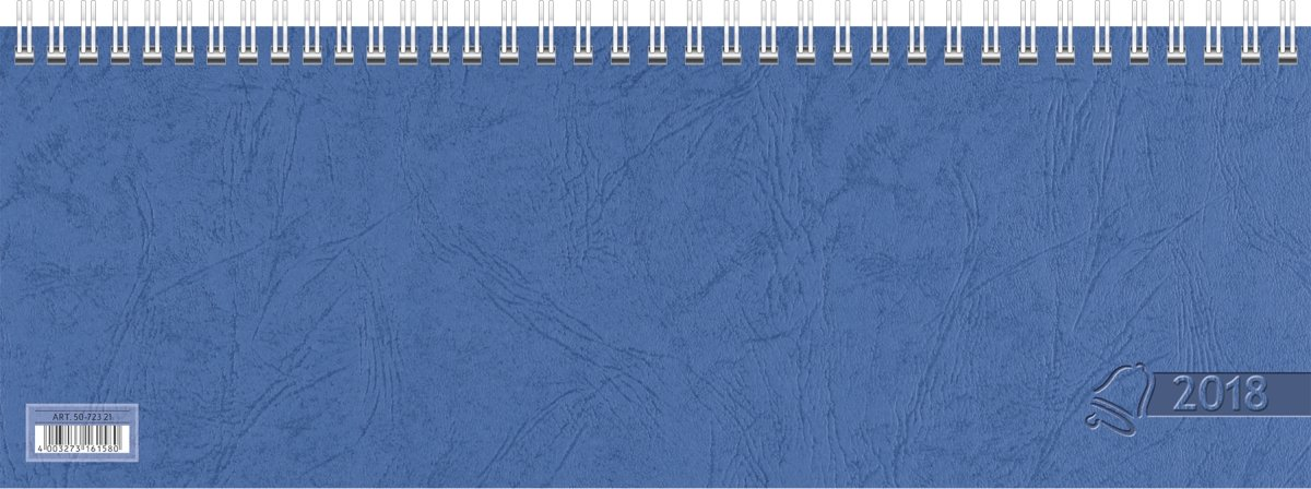 Baier /& Schneider Querkalender Querterminbuch 1 Woche// 2 Seite Karton blau 2018 297 x 105 mm