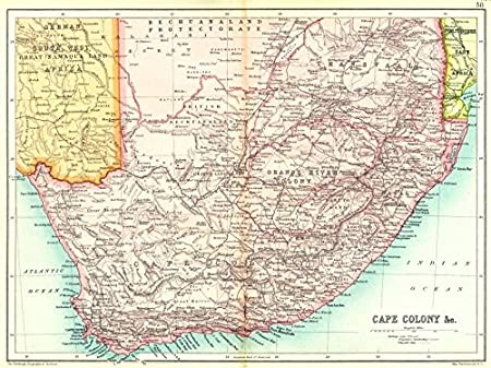 Natal South Africa Map.South Africa Cape Colony Natal Transvaal Orange River Colony