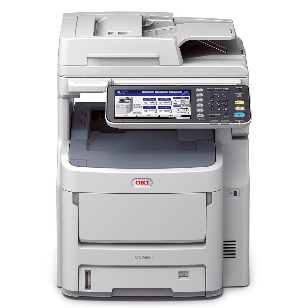 OKI MC760dnfax LED 28 ppm 600 x 1200 dpi A4 - Impresora multifunción (LED, Impresión a Color, 600 x 1200 dpi, 530 Hojas, A4, Gris, Blanco)